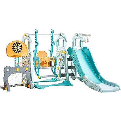 Juego De Columpios Y Toboganes para Niños 6 En 1 Escalador Independiente Zona De Juegos Centro De Actividades Seguro para Niños En Interiores para Niños De 3 Años En Adelante