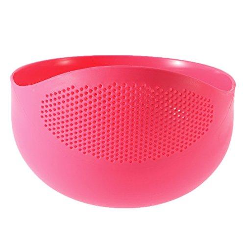 Krevia Plastic Vegetable Fruit Basket Rice Wash Sieve Washing Bowl Colander (Big)