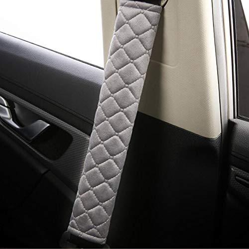 1 par Cojín para cinturón de seguridad,Protector Cinturon Coche,extraíble y lavable, Material de Gamuza Suave Y Cómoda,Correa para el Hombro niños y Adultos, para cinturón de seguridad,mochila (Gris)