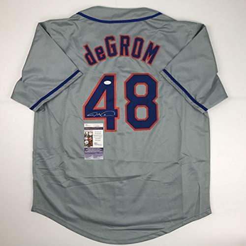 Autographed/Signed Jacob DeGrom New York NY Grey Baseball Jersey JSA COA