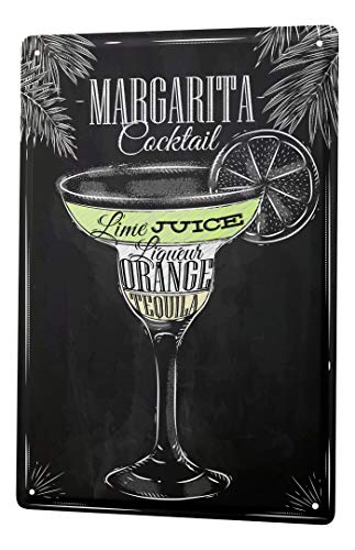LEotiE SINCE 2004 Plaque en Métal Métallique Poster Mural tin Sign Alcool Retro Margarita Cocktail Bar Pub Restaurant