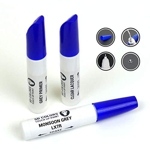 SD COLORS MONSOON GREY LX7R - Kit di riparazione per ritocchi, 12 ml, colore LX7R, colore: Grigio monsone, vernice e vernice