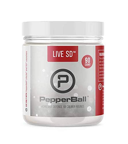 PepperBall Live SD Projectiles Less Lethal Self Defense .68 Caliber PAVA Powder, 90 Count