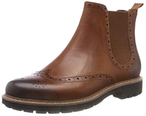 Clarks Herren Batcombe Top Chelsea Boots, Braun (Dark Tan Lea), 42 EU