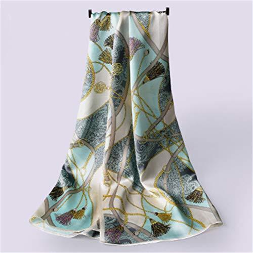 Jiahe Silk europäischer Langer Silk Schal China Hangzhou Silk Schal Vielseitig bedruckter Silk Schal -170 * 55cm / 67 * 21.6 Zoll,H