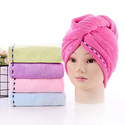 Gorro de ducha de pelo suave seco para material de fibra 4 piezas conjunto de toalla envuelta absorbente toalla de baño accesorios