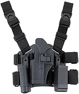 JahyShow Tactical Right Hand Paddle & Leg Belt Drop Leg Holster for Glock 17/19