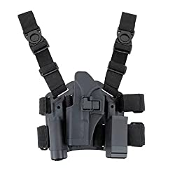 JahyShow Tactical Right Hand Paddle & Leg Belt Drop Leg Holster for Glock