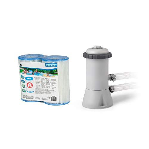 Intex Krystal Clear 530 GPH Pool Cartridge Pump & Filter Replacement Cartridges