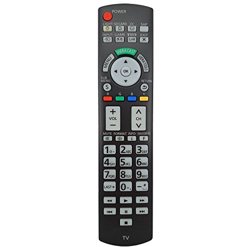 Replacement Remote Controller for Panasonic TVs TC-P50ST30 TH-50PZ80U TC-P50ST30 TC-P46G25