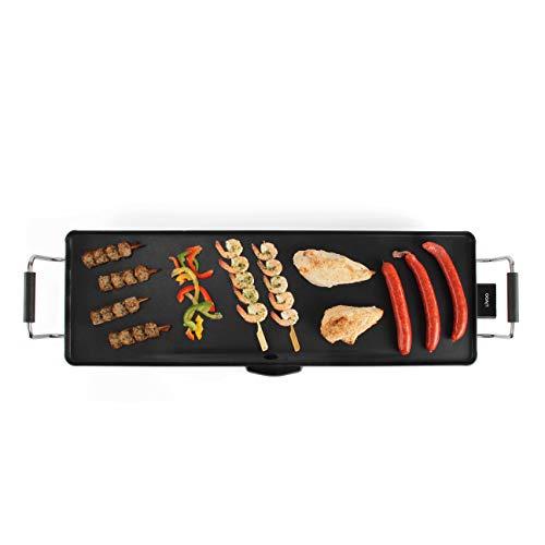 Domoclip DOM231 Grill Da tavolo Elettrico Nero 1800W barbecue per l'aperto e bistecchiera
