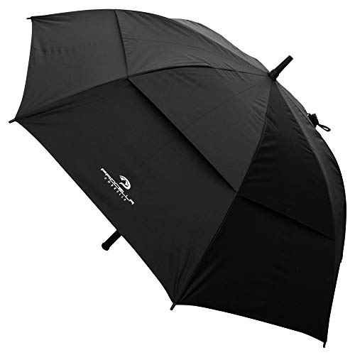 PROCELLA Golf Umbrella UV Protection, Windproof, Waterproof - UPF 50+ Sun Umbrella for Walking, Golf and Sports - Superior Heavy Duty Automatic UV Blocker Umbrella - Matching Carrying Case Sleeve