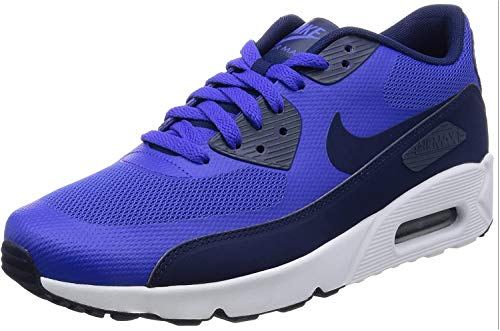 Nike Herren Air Max 90 Ultra 2.0 Essential Laufschuhe, Bianco, Blau (Paramount Blue/binary Blue-white), 42.5 EU