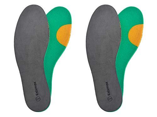 Knixmax 2 Paare Einlegesohlen Schuheinlagen Weich Bequem Atmungsaktiv gegen Schweißfüße Ideal für Alltag und Beruf - Unisex Erwachsene und Kinder - Gr.34 EU