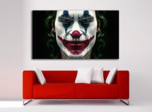 Cuadro Lienzo Joker Joaquin Phoenix - Lienzo de Tela Bastidor de Madera de 3 cm - Fabricado en España - Impresión en Alta resolución – Varias Medidas (60, 33)