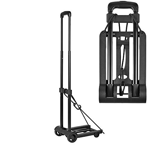 Folding Compact Lightweight Durable Luggage Cart Travel Trolley | Quiet Wheeling Sports & Medical Equipment Carrier Funky Trundle Storage on Wheels