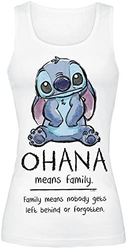 Nastrovje Potsdam GmbH & Co. KG EMP Lilo and Stitch Ohana Means Family Frauen Top weiß XXL 100% Baumwolle Disney, Fan-Merch, Filme