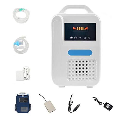XW Oxígeno Generador Eléctrico, Máquina De Oxígeno Portátil Coche con Mochila Power Bank /, Inicio Concentrador De Oxígeno para Ancianos Y Mujeres Embarazadas, 110-220V
