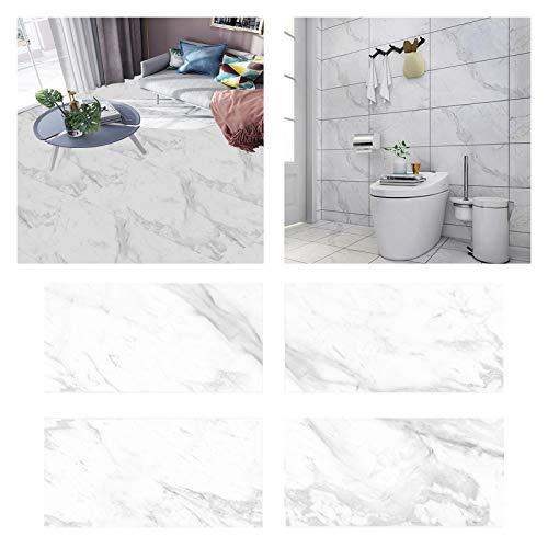 32 pcs Adhesivo de pared autoadhesivo, adhesivo de cerámica para azulejos de pared, adhesivos para azulejos de mármol, PVC impermeable para decoración de sala de estar, cocina y baño