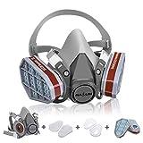 NASUM Respirateur de Protection Kit de Masque avec 2 Filtres/2 Boîtes/2 Cotons Filtrants,...