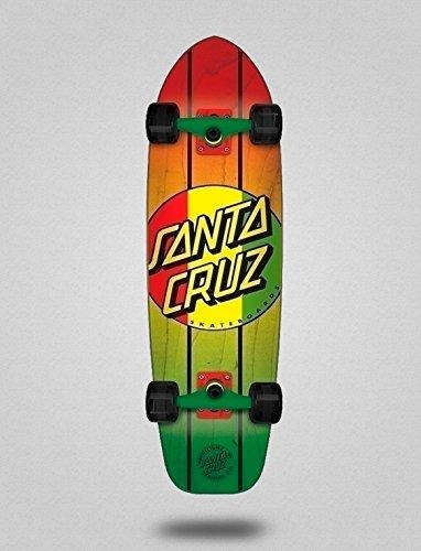 SANTA CRUZ Skate Longboard Cruiser Complete Rasta Dot Jammer Mid 9.22 X 33