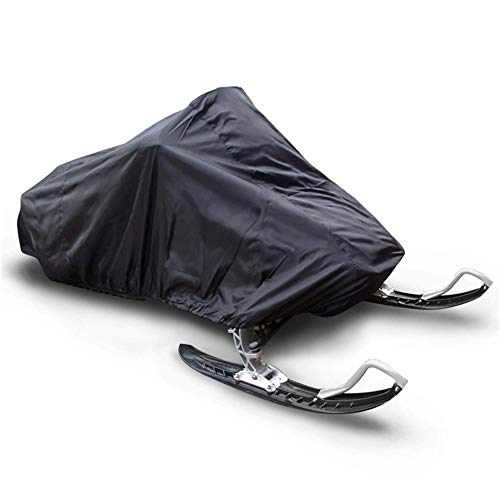 DONGZHI Waterproof Snowmobile Cover For Trailerable Sled All Purpose Motorcycle Storage Anti UV Skiing Outdoor Winter (Color : Black, Size : 368x130x121cm)
