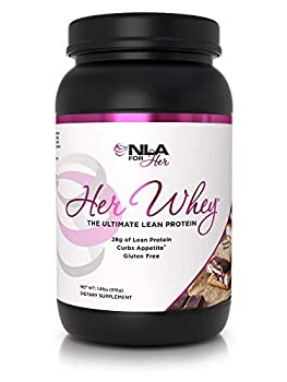 NLA Her Whey Protein  Hazelnut S Mores  - 2.2 lbs - Lean Whey Isolate for Women- w Aminos & Vitamins Recovery Builds Lean Muscle Curbs Appetite  30 21g Protein Servings or 18 XL 28g Servings