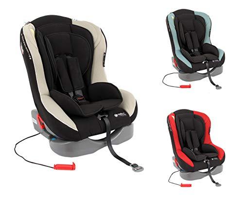Autokindersitz Kindersitz Baby Autositz Space Traveller von MEDISAFE Gruppe 0+,1 (0-18 Kg) Mit Farbauswahl, Farbe:Creme-Schwarz
