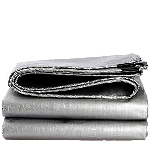 Ombre Voiles Ombre Tissu Ombrage Net Sun Mesh Toile Bâche Imperméable Parasol Épais Et Durable Maison En Plein Air Usine Dédié ZHML (Couleur : Silver, taille : 3 * 4M)