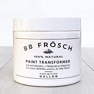 BB Frösch Paint Transformer/DIY Chalk Paint Powder. Easily mix w/ANY brand ANY color paint to create premium chalk paint for furniture, cabinets, metal, wood, tile and more! Easy to use! 100% natural.