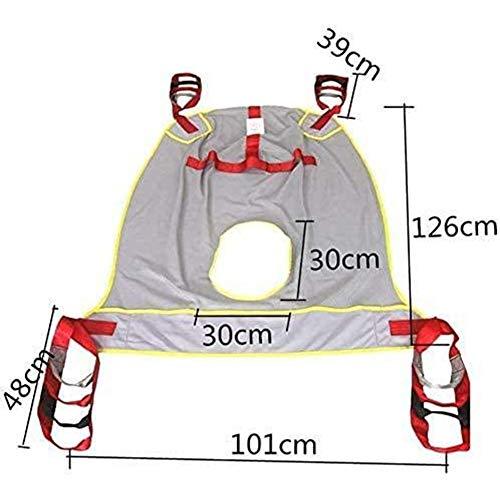 41RzAG8vkEL - YUXINCAI Eslingas De Elevación De Pacientes Cinturón Dispositivo De Alturas Ajustadas Grúa De Asistencia En Movimiento Marcha Correas para Caminar Arnés para Personas Mayores, Postrado En Cama