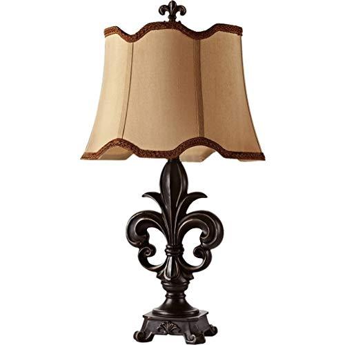lampara de lectura En forma de tabla especial estadounidense retro de la lámpara del paño de lino hecha a mano Pantalla dormitorio lámpara de cabecera Sala de Estudio lámpara de escritorio Lámpara de