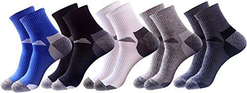 Basic Crew Compression Socks for Men (Assorted 5-Pack) (Assorted Colors)