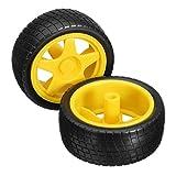 2 Stück Intelligente Roboter-Auto Reifen Räder für Arduino TT Gear Motor Chassis