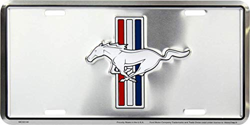Hangtime Ford Mustang Metal License Plate 6 x 12