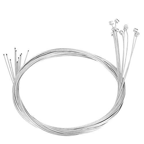 Cable de freno Cable, 10 piezas Bicicleta Cable de freno Cable de engranaje Cable de bicicleta Línea de frenado Reparación de cables Accesorio de repuesto para bicicleta de carretera de montaña, 2 m