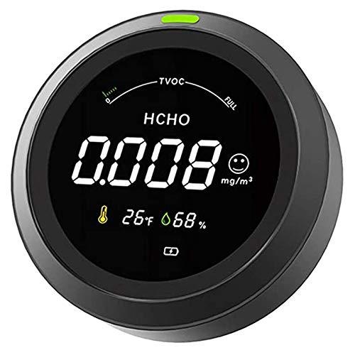 HUANGCHAO Luft-QualitäTsmonitor FüR Formaldehyd, Tvoc, Feuchtigkeits-Portable Indoor Outdoor-Chemical Pollution Detector Mit Hcho-Sensor