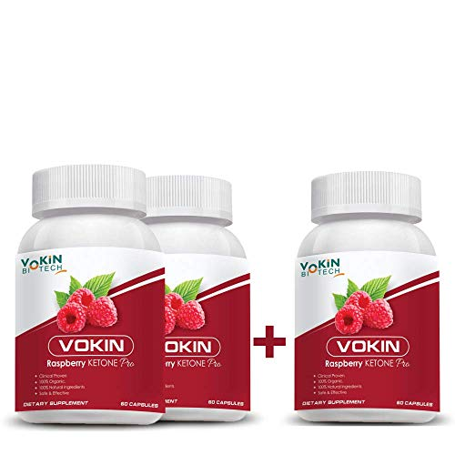 Vokin Biotech Raspberry Ketone Pro capsules with weight loss supplement and Ultimate fat burner -60 capsules (2+1 COMBO)