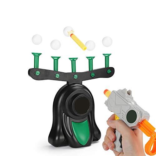 ASNMSL Juegos de Tiro Oscuro: Juguetes de Práctica para Niños Y Niñas con Pistola de Dardos de Espuma, 10 Objetivos de Bola Flotante Y 5 Objetivos de Tirón