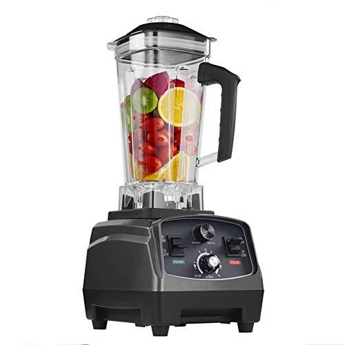 MIAO Licuadora/Temporizadora Comercial de Servicio Pesado de 2200 vatios, licuadoras exprimidoras procesadoras de Frutas, tarros de 2 litros, 220 V