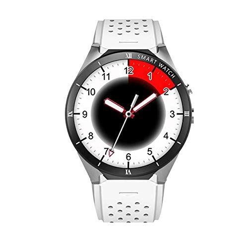 Smart Herren-Armbanduhr, Bluetooth, unterstützt Google Store, Sprache, GPS-Karte, silberfarben