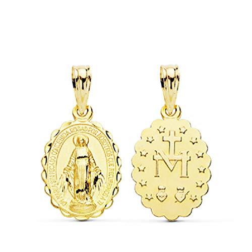 Medalla Virgen La Milagrosa Oro 18 ktes Unisex Tamaño 10 x 18 mm