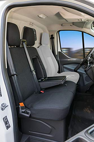 Funda de asiento de coche Walser 10532 Funda de asiento de poliéster antracita compatible con Ford