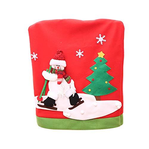 Gespout Navidad Decoración Silla Cubierta Elástica Tapa Silla Comedor Lavable Poliéster Sillas Pr