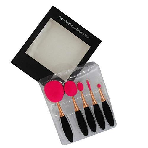 Brosse à dents de type brosse de beauté 5 bâtons brosse de beauté fondation brosse brosse en poudre lâche brosse de maquillage beauté noir outils de maquillage rose