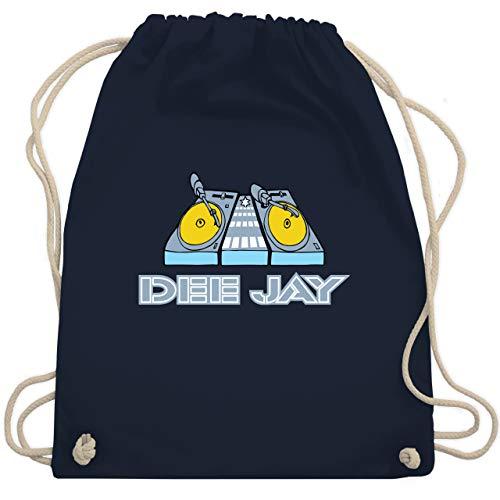 Shirtracer DJ - Discjockey - Discjockey Turntables - Unisize - Navy Blau - dj turnbeutel - WM110 - Turnbeutel und Stoffbeutel aus Baumwolle