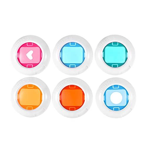 skrskr Cámara instantánea Mini Color Close Up Conjunto de filtros de Lentes para Fujifilm Instax Mini 7s / 8/8 + / 9, 6pcs