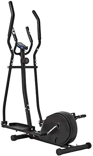 Cross Trainer - Bicicleta elíptica combinada de ciclo 2 en 1 y elíptica para entrenamiento en casa, entrenamiento de cardio para uso doméstico, entrenamiento de ejercicio