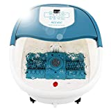 Foot Spa Bath Massager with Heat and Bubble Jets Electric Shiastu Massage Rollers Motorized Maize Massage Rollers Pedicure Stone Mani/Pedi Soak Tub Home Bucket Heating Foot Detox Deep Machine