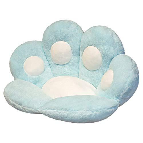 ADICOM Cute Cat Paw Plush Chair Cushion, Cute Cat Paw Shape Sofa Chair Pillow, Plush Comfortable Lazy Sofa Office Chair Pad for Home Decoration 70 * 60cm Blue